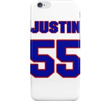National football player Justin Rogers jersey 55 iPhone Case/Skin
