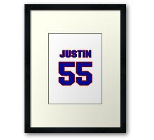 National football player Justin Rogers jersey 55 Framed Print