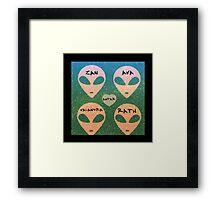 Roswell Aliens Tv Show Past Life Framed Print