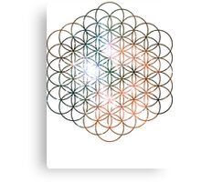 Kid Cudi Galaxy [Red] Flower of Life | Sacred Geometry Canvas Print