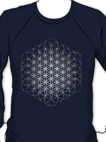 Tight Cluster Galaxy Flower of Life | Sacred Geometry T-Shirt