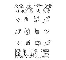 Cats Rule Photographic Print