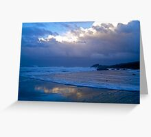 Castle Rock stormy sunset Greeting Card