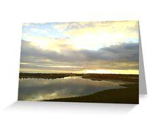 Sunrise on Elmore Road Lagoon Greeting Card