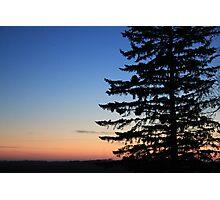 Minnesota Winter Sunset Photographic Print