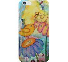 Birds in a Flower Garden  iPhone Case/Skin