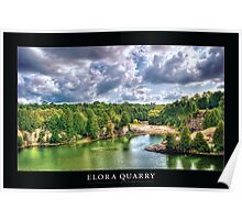 Elora Quarry [Captioned & Credited - BLACK]  Poster
