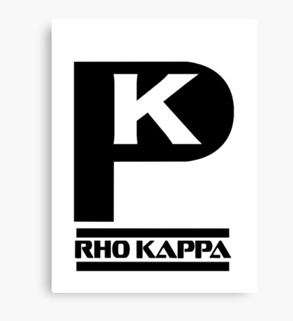 Rho Kappa Shirt Logo 2 Canvas Print