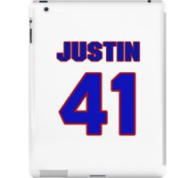 National football player Justin Lucas jersey 41 iPad Case/Skin