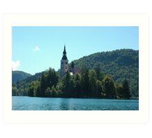 Church of Assumption in Lake Bled  Art Print