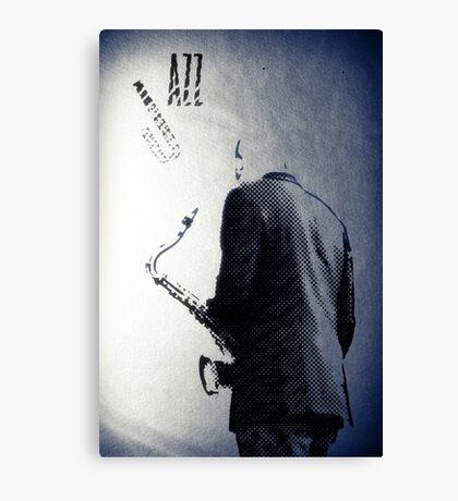 Saxophonist. Jazz Club Poster Canvas Print
