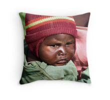 Masai baby Throw Pillow