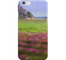 mont st. michel flowers and grazing sheep iPhone Case/Skin
