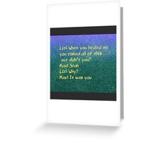 roswell max and liz alien tv show Greeting Card