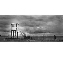 Holy Island Hut on Legs Photographic Print