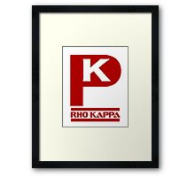 Rho Kappa Shirt Logo 3 Framed Print