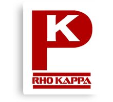 Rho Kappa Shirt Logo 3 Canvas Print