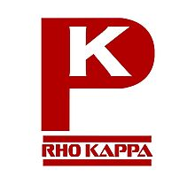 Rho Kappa Shirt Logo 3 Photographic Print