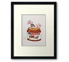 In Nutella (fall in love) Framed Print