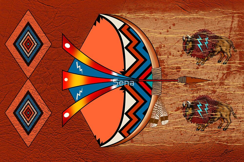 Buffalo Hunt by Sena