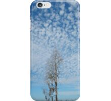 Cypress Under a Popcorn Sky iPhone Case/Skin