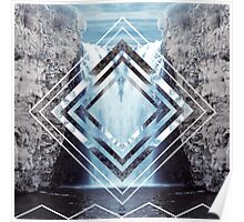 Waterfall Polyscape Poster