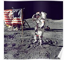 Planting the Flag on the Moon Poster