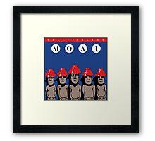 Moai Devo Style Framed Print