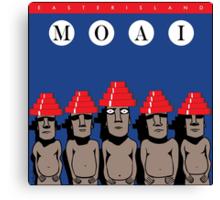Moai Devo Style Canvas Print