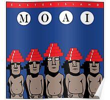Moai Devo Style Poster