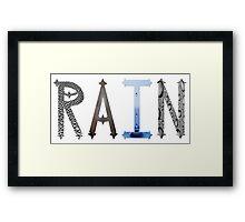 Dymond Speers RAIN Framed Print