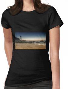Redhead Beach Shark Tower Womens Fitted T-Shirt