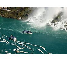 Two ships under Niagara Photographic Print