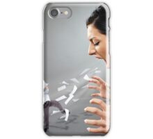 Furious businesswoman shouting at a subordinate iPhone Case/Skin