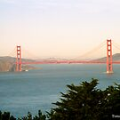 Golden Gate Bridge Ocean Beach View by tomoenk6