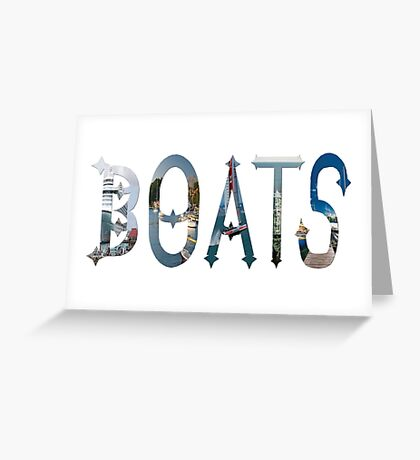 Dymond Speers BOATS Greeting Card