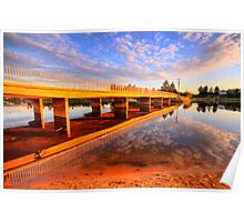 Mirror - Narrabeen Lakes, Sydney Australia - The HDR Experience Poster