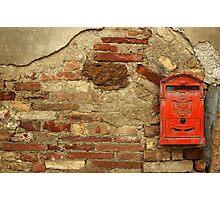 Mail Box, Tuscany, Italy Photographic Print