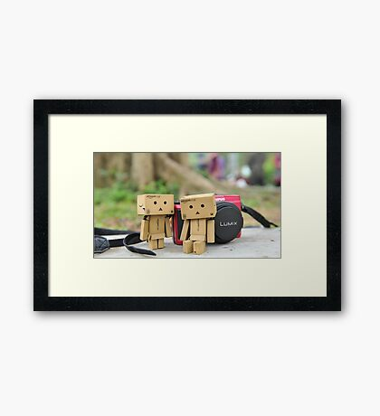 Carton love cartoon  Framed Print