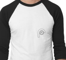 Remote Logo Frame Men's Baseball ¾ T-Shirt