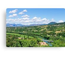 Rural Alpes-de-Haute-Provence in the Summer Canvas Print