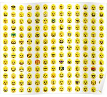 The Many Faces of Lego Poster