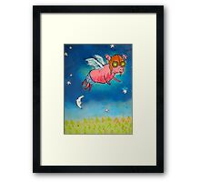Hammy Over the Moon Framed Print