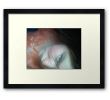 Coral Lace Framed Print