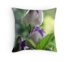 Lisianthus Flowers  Throw Pillow