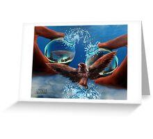 Eco-balance Greeting Card