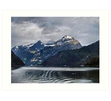 Heading to the Glaciers Art Print