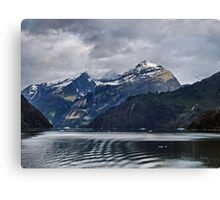 Heading to the Glaciers Canvas Print
