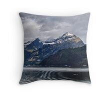Heading to the Glaciers Throw Pillow