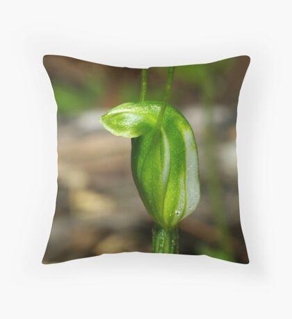 Dwarf Greenhood Throw Pillow